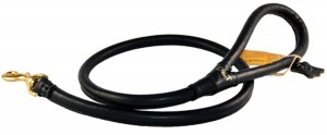 dog leash rolled leather